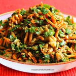Lentil Carrot Salad with Green Onion Parsley Walnuts & Balsamic Dressing