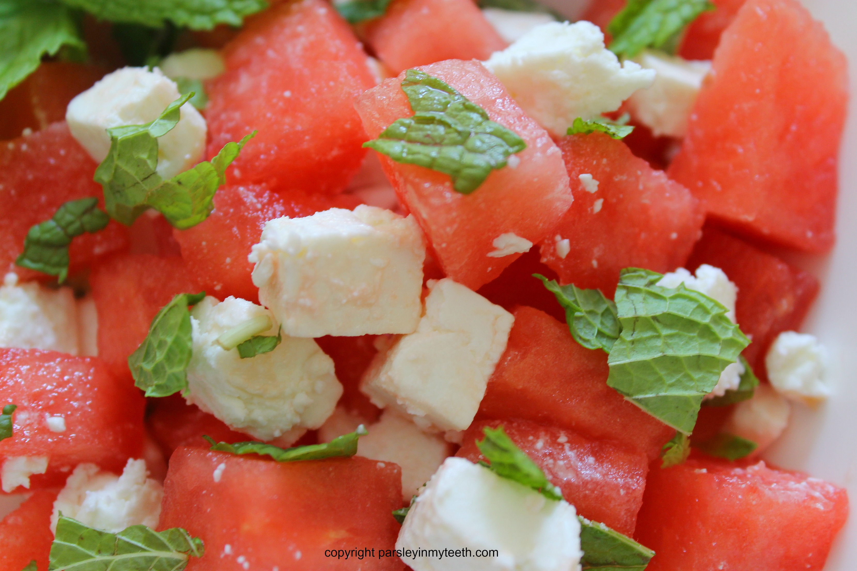 watermelon feta salad with mint. Black Bedroom Furniture Sets. Home Design Ideas