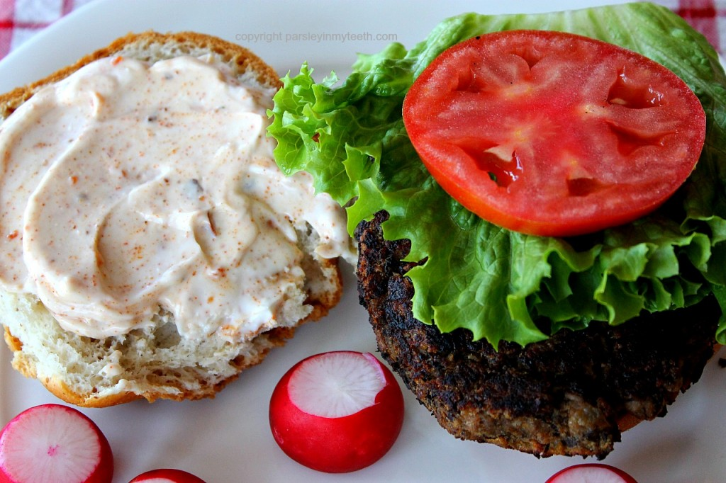 Spicy Bean Burgers with Chipotle Mayo