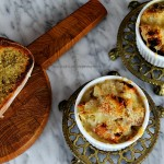 French Onion & Mushroom Soup with Garlic Herb Croutons