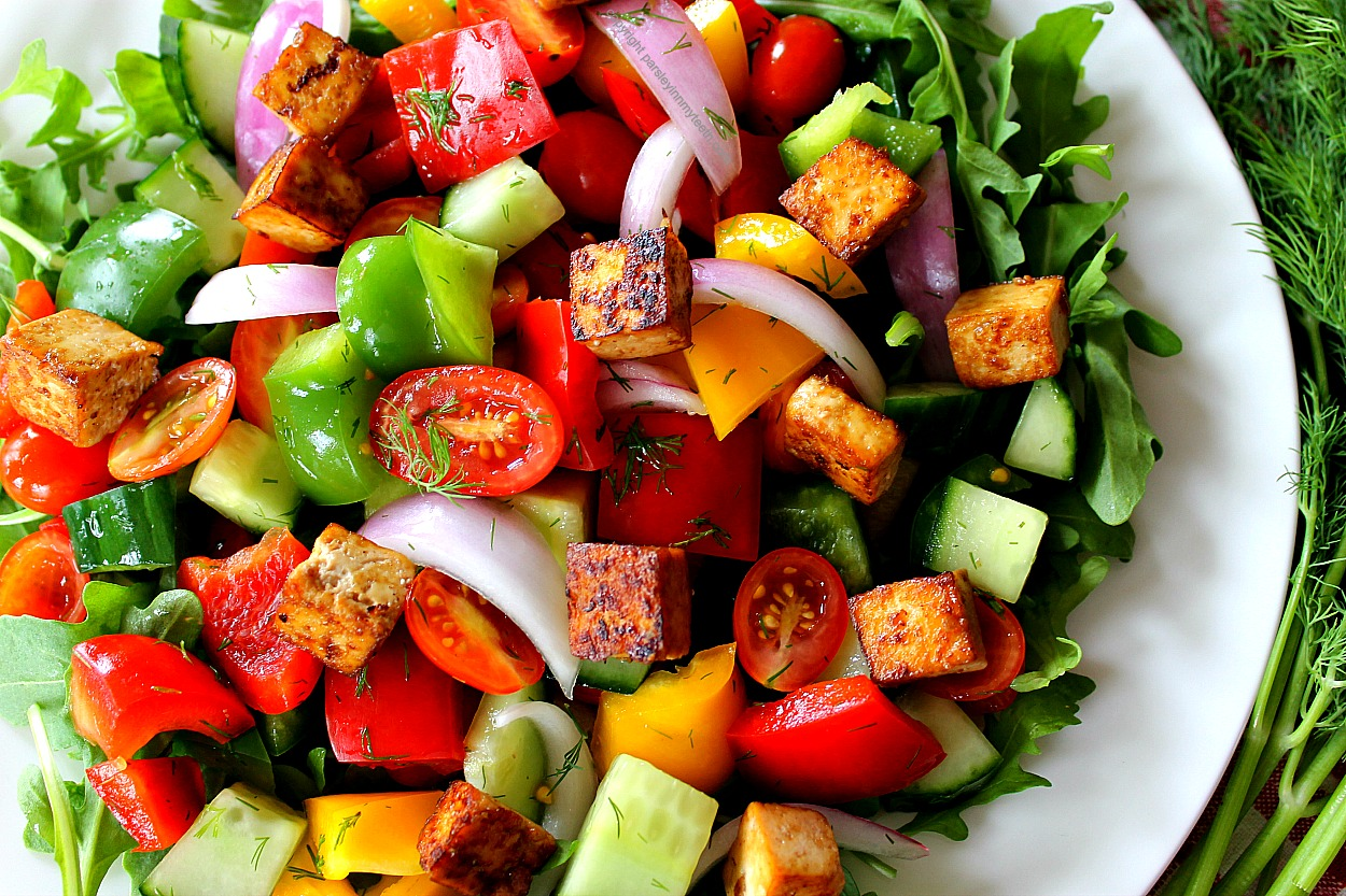 Citrus-Marinated Tofu With Onions And Peppers Recipe ...