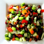 Kidney & Black Bean Salad with Edamame Cilantro & Lime