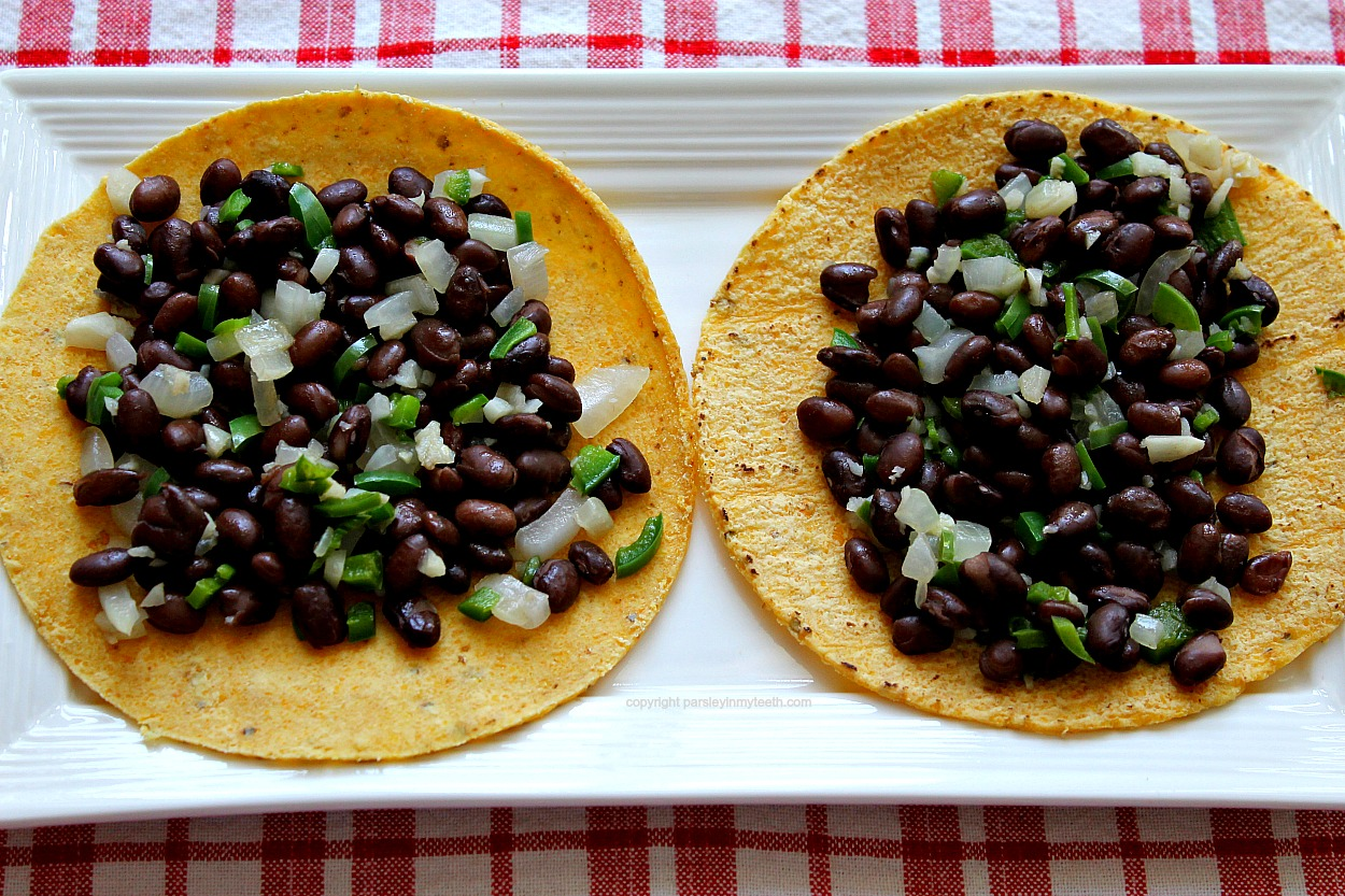 Spicy Black Beans Tacos tortilla beans