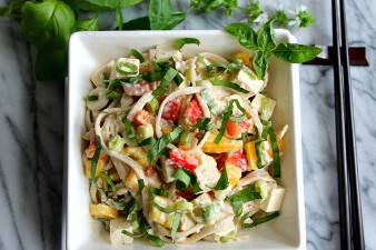 Thai Noodle Tofu Salad with Sweet & Hot Peppers