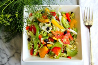 Tri-Color Coleslaw with Dill & Currants