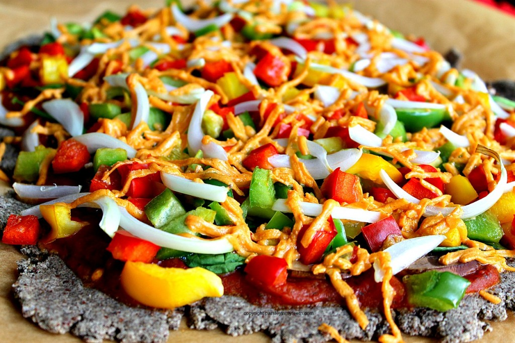 Loaded Vegetable Pizza with Buckwheat & Almond Flour Crust