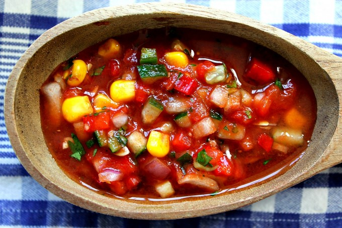 Chunky Gazpacho from Parsley In My Teeth 2