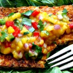 Spicy Fried Tofu & Warm Mango Salsa