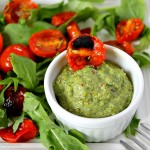 Roasted Cherry Tomato & Sage Pesto Salad with Arugula