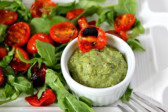 Roasted Tomato Sage Pesto Salad 3 by Parsley In My Teeth