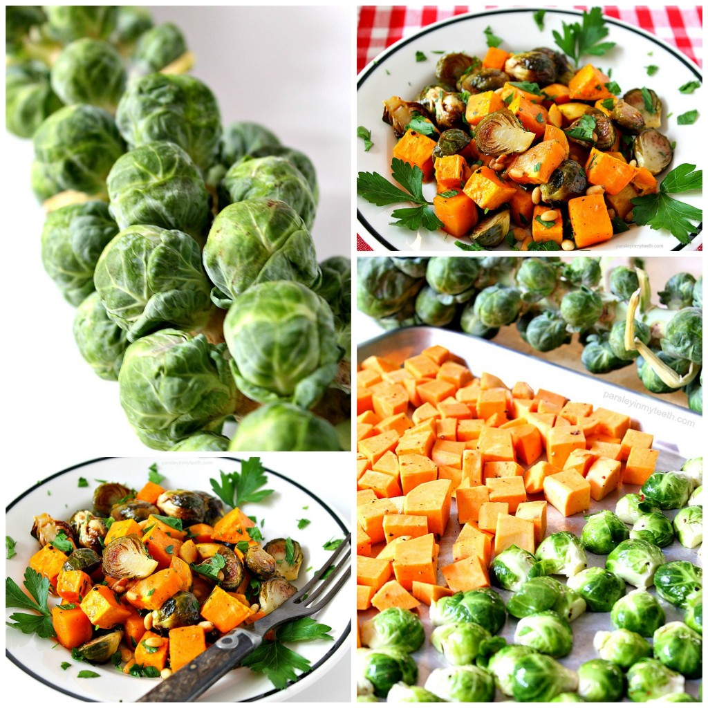 Roasted Sweet Potatoes and Brussels Sprouts by Parsley In My Teeth 8