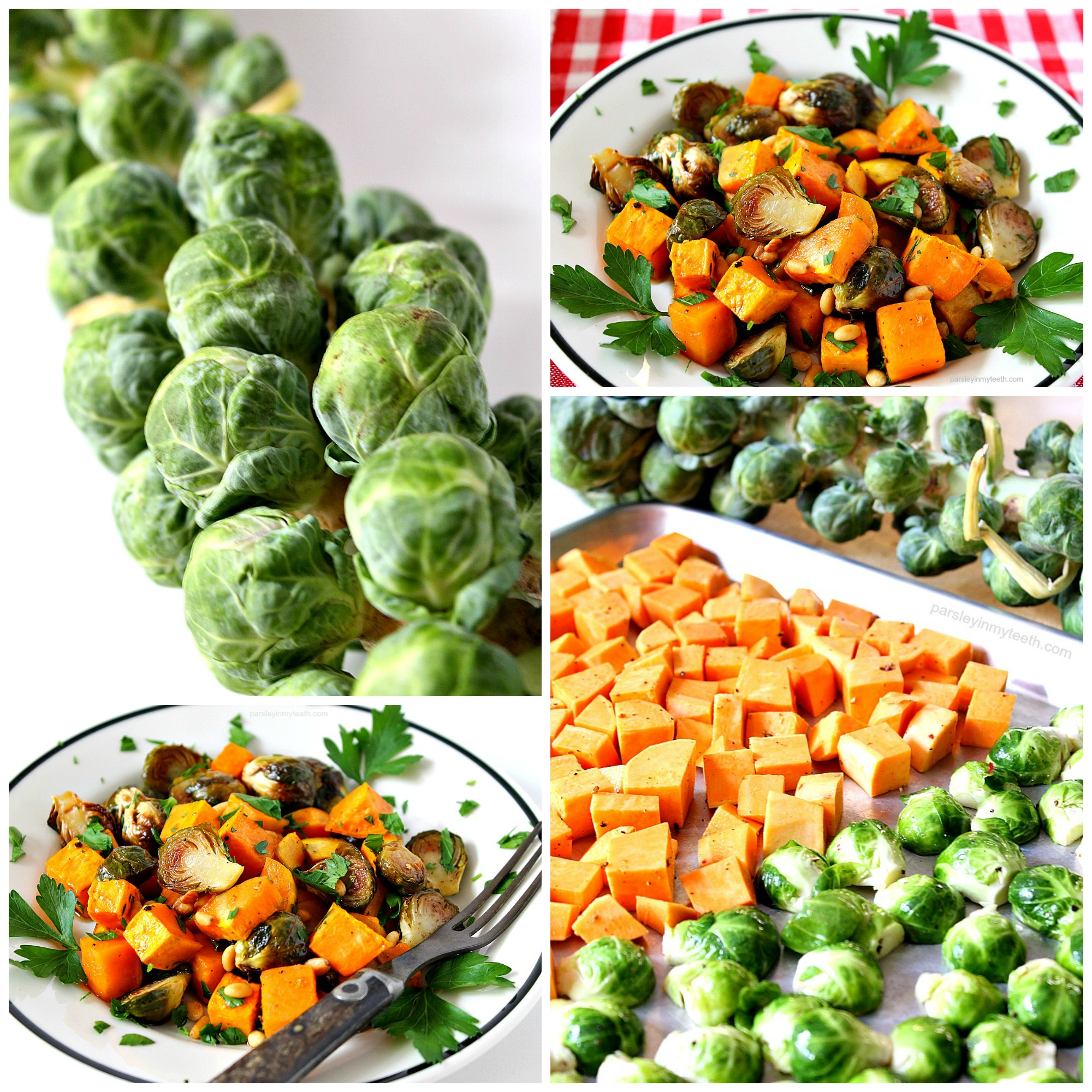Balsamic Roasted Brussels Sprouts With Toasted Pine Nuts Recipe ...