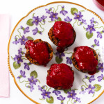 Cranapple Banana Muffins & Raspberry Topping