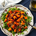 Roasted Kabocha Squash & Buckwheat Salad with Dried Cranberries & Honey Dijon Dressing