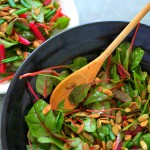 Baby Red Chard Beet & Green Bean Salad with Toasted Pepitas
