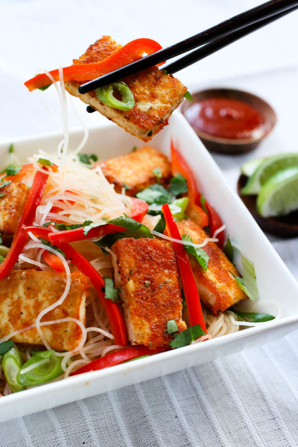 Spicy Citrus Asian Noodles & Tofu by Parlsey In My Teeth 9