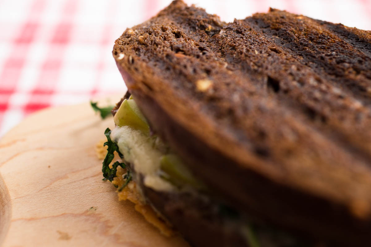 Grilled Blue Cheese Green Apple & Arugula on Pumpernickel by Parsley In My Teeth 7