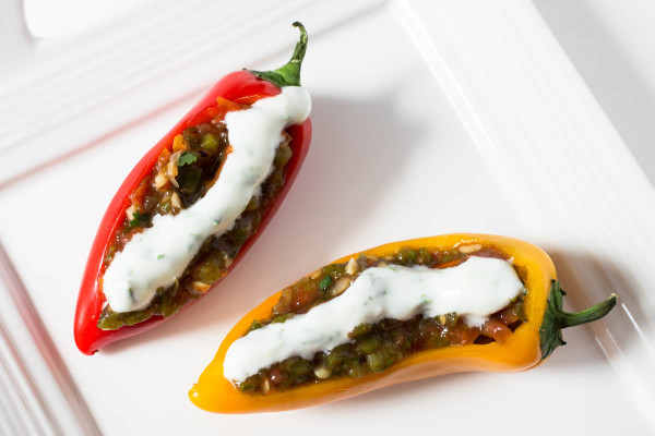Mini Sweet Peppers Stuffed with Roasted Jalapeno Salsa by Parsley In My Teeth 2