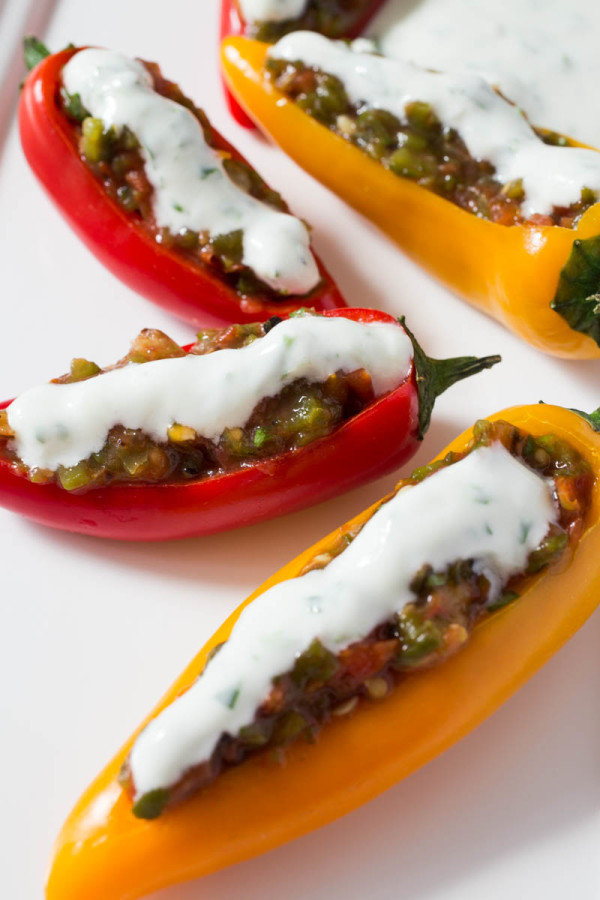 Mini Sweet Peppers Stuffed with Roasted Jalapeno Salsa by Parsley In My Teeth 3
