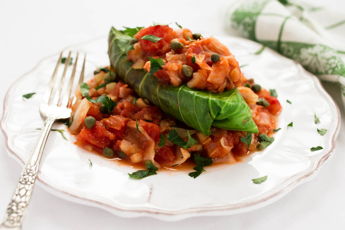 Wild Rice & Lentil Stuffed Cabbage Rolls by Parsley In My Teeth 11