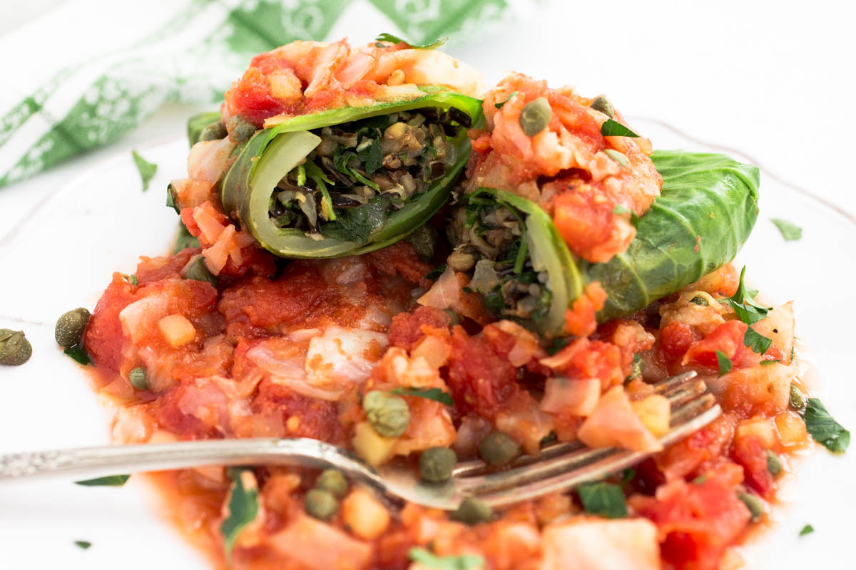 Wild Rice & Lentil Stuffed Cabbage Rolls by Parsley In My Teeth 13