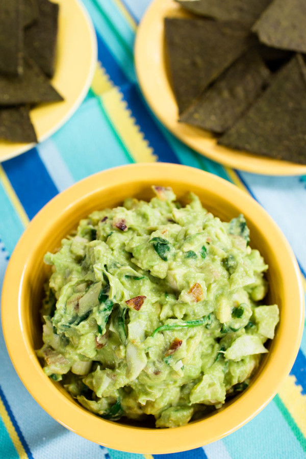 Avocado Artichoke Dip with Spinach & Caramelized Onions by Parsley In ...