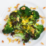 Pan-Charred Broccoli with Fried Garlic Toasted Pine Nuts & Lemon Zest