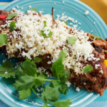 Stuffed Enchiladas with Black Beans Red Pepper Corn Chives & Sun-Dried Tomatoes