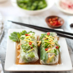 Crunchy Spring Rolls with Ginger-Lime-Garlic Sauce