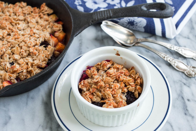 Blackberry + Stone Fruit Crisp from Parsley In My Teeth