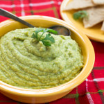 Fava-Cannellini Bean Dip with Green Peas Cilantro & Garlic