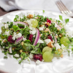 Einkorn Wheat Berry & Microgreens Salad