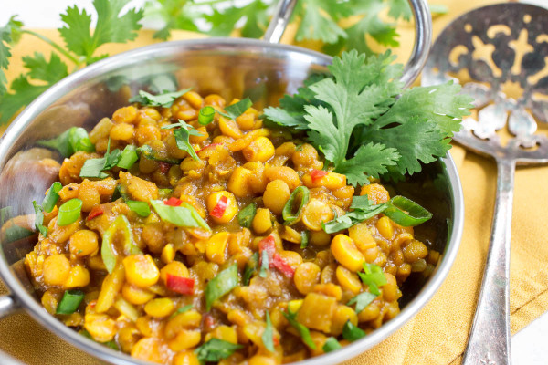 Curried Yellow Lentils & Sweet Corn from Parsley In My Teeth