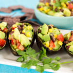 Guacamole Stuffed Avocado Shells