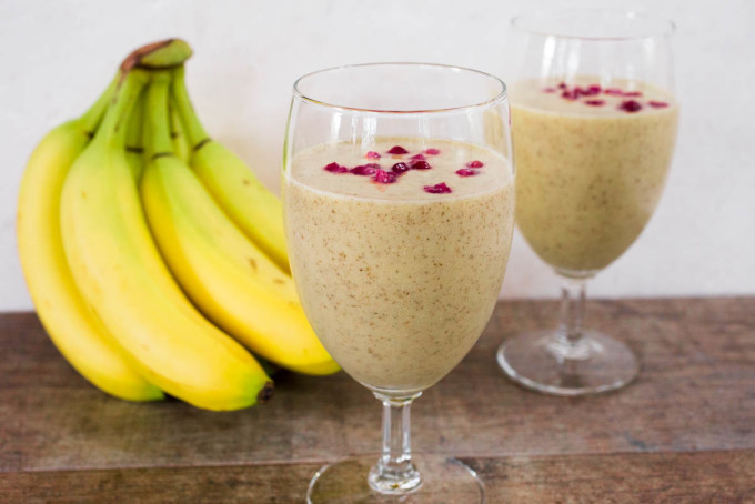 Banana Mango Melon & Chia Seed Smoothie by Parsley In My Teeth