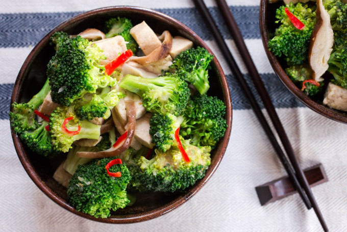 Tofu Broccoli & Shitake Mushroom Stir-Fry by Parsley In My Teeth