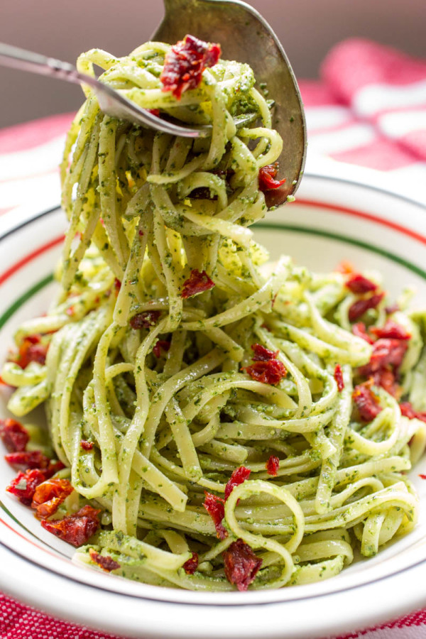 Basil & Hemp Seed Pesto with Sun-Dried Tomatoes from Parsley In My Teeth