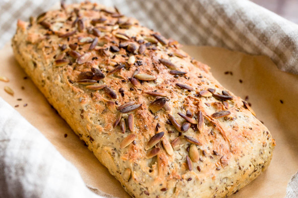Einkorn Bread with Hemp Chia Flax & Pumpkin Seeds by Parsley In My Teeth