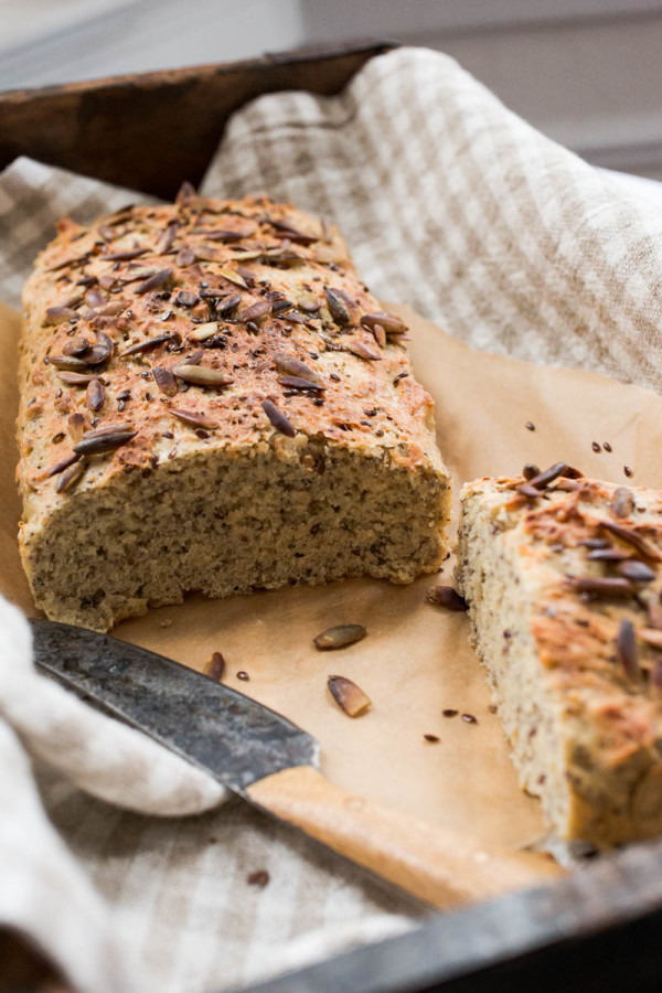 Einkorn Bread with Hemp Chia Flax + Pumpkin Seeds from Parsley In My Teeth