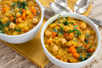 Chickpea Carrot & Red Lentil Soup