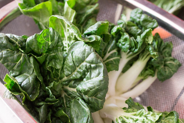 how to cut up baby bok choy
