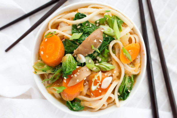 Spicy Asian Noodle Soup with Bok Choy & Shitake Mushrooms by Parsley In My Teeth