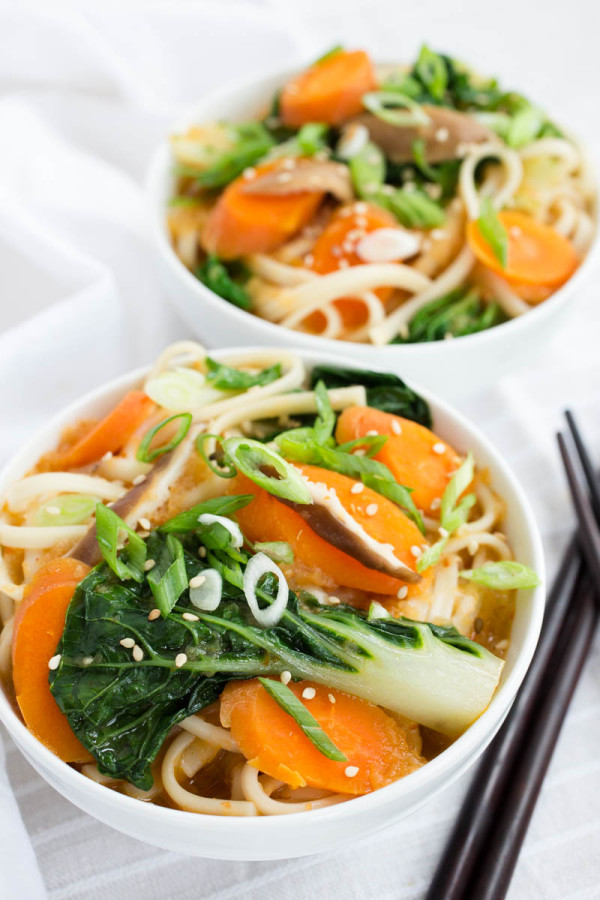 Spicy Asian Noodle Soup with Bok Choy & Shitake Mushrooms from Parsley In My Teeth