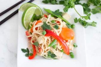One-Pot Asian Noodles with Tahini-Ginger Sauce
