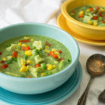 Mexican Fiesta Gazpacho with Avocado Cilantro & Sweet Summer Corn