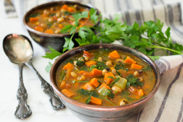 Curried Black-Eyed Pea Soup by Parsley In My Teeth, healthy vegan soup