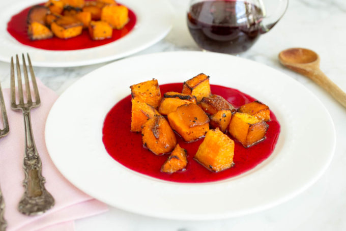 Roasted Butternut Squash with Hibiscus Glaze by Parsley In My Teeth