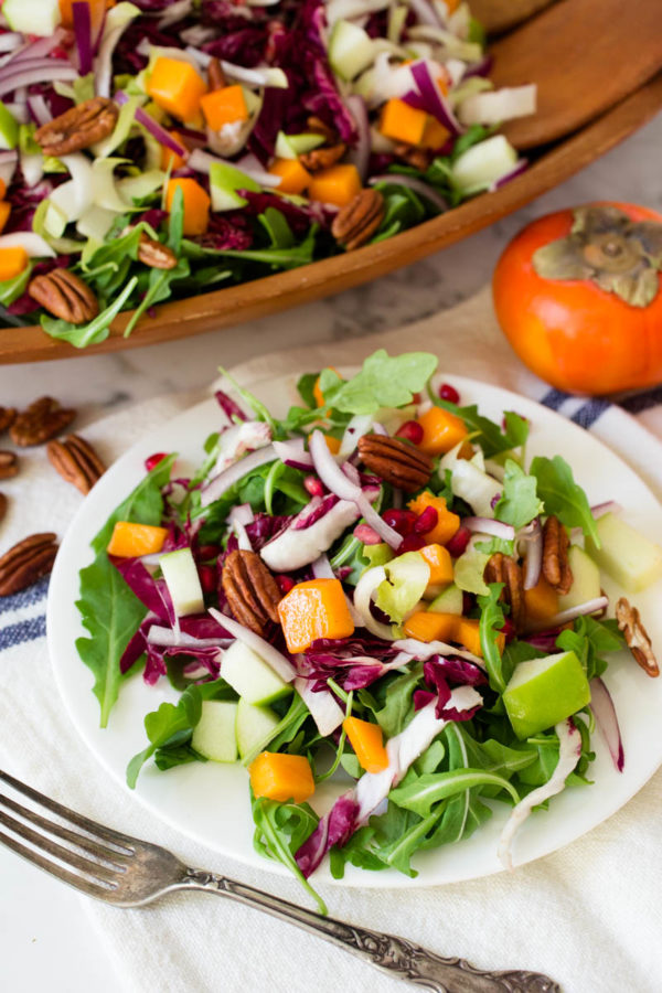 bitter-lettuce-salad-with-pomegranate-persimmon-pecans-green-apple-from-parsley-in-my-teeth