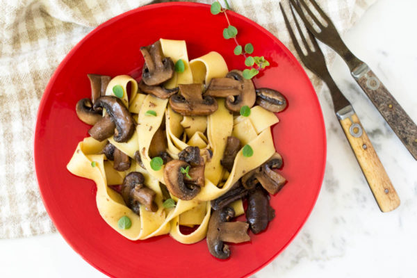 Seasoned Mushrooms with Noodles by Parsley In My Teeth, healthy vegan side or main dishes