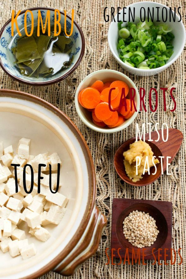 Basic Miso Soup ingredients from Parsley In My Teeth